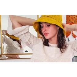 Chapeau Crochet Mon Beau Bob Jaune Fait Main