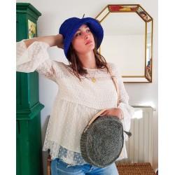 Chapeau Crochet Mon Beau Bob Bleu Roi Fait Main