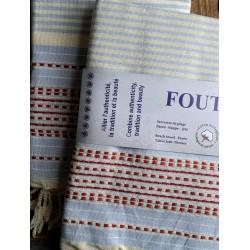 Fouta - Serviette - Nappe - Jeté Tunisien Pur Coton