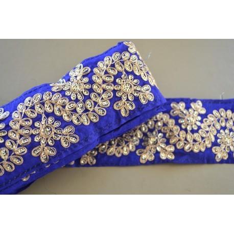 Parure Bleu Violet 6,8 cm