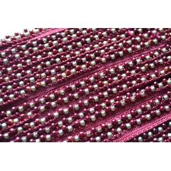 Perles Bordeaux 1 cm
