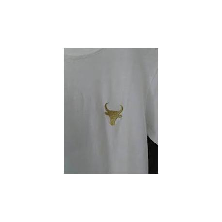 T shirt Taureau Blanc
