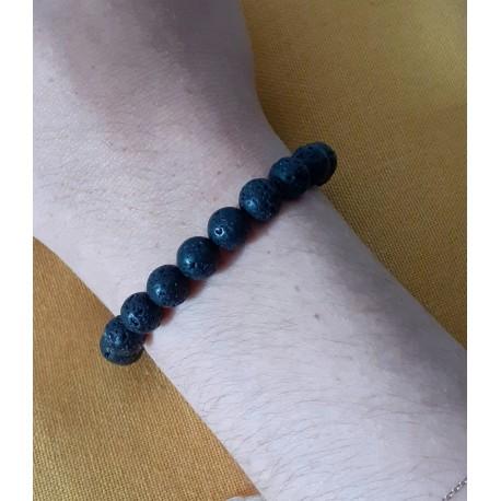 Bracelet pierre de lave CALME