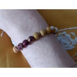 Bracelet pierre de Mokaïte EMOTIVITE